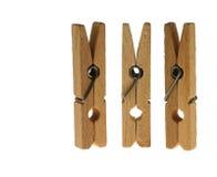 Clothespins de lino Imagen de archivo libre de regalías