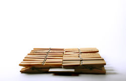 Clothespins de madera Fotografía de archivo libre de regalías