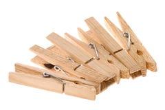 Clothespins de madera   Foto de archivo