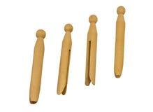 Clothespins de madera de la vendimia Fotos de archivo libres de regalías