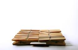 Clothespins di legno Fotografia Stock Libera da Diritti