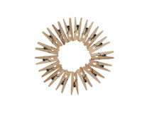 Clothespins di schiera immagine stock