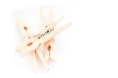 clothespins drewniani Fotografia Stock