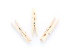 clothespins drewniani Obraz Stock