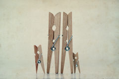 Clothespins family. Abstract concept Royalty Free Stock Photos