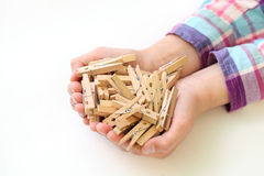Clothespins royalty free stock image