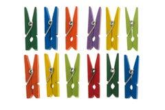 clothespins kolorowi Zdjęcie Royalty Free