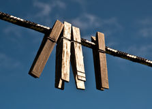 Clothespins Royalty Free Stock Photos