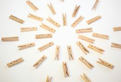 clothespins obrazy royalty free