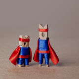 Clothespins superteam superheroes έννοια διασκέδασης διάστημα αντιγράφων Στοκ εικόνες με δικαίωμα ελεύθερης χρήσης