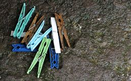 clothespins stock afbeelding