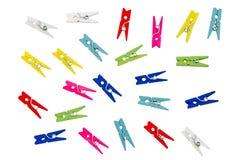 Clothespins variopinti fotografia stock libera da diritti