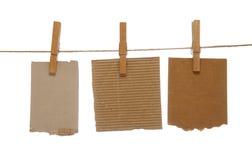 Clothespins y libretas Imagen de archivo libre de regalías