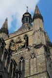 Clothhall钟楼伊珀尔,比利时 免版税库存图片