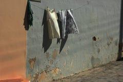 clothies在阳光下 免版税库存照片