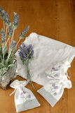 Clothing. With lavender on the desk Stock Images