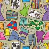 Clothing 9 Design Seamless Pattern_eps Stock Images