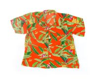 Clothing. Isolated tropical shit on white stock photos