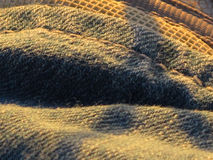 Clothing abstract. Abstract clothing, sunset on jeans Stock Images