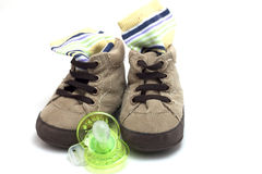 Clothing accessories baby shoes Royalty Free Stock Photos