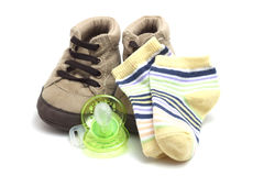 Clothing accessories baby shoes Royalty Free Stock Image