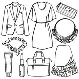 Clothing and Accessories Royalty Free Stock Photos
