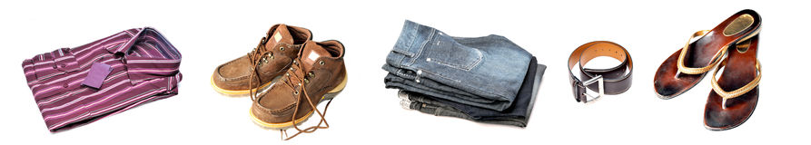 Clothing and accessories Stock Photography