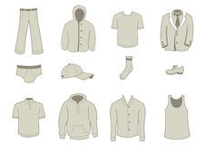 Clothing and Accessories Icons Stock Image