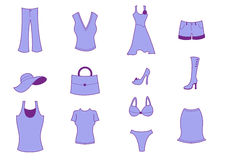 Clothing and Accessories Icons Royalty Free Stock Photo