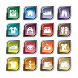 Clothing and Accessories Icons Stock Images