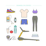 Clothing and accessories for running. Stock Photos