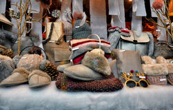 Clothing and accessories shop window Royalty Free Stock Photography