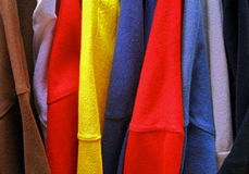 clothing all colors Stock Photo