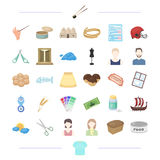 Clothing, appearance, atelier and other web icon in cartoon style. theater, weather, typedography icons in set. Clothing, appearance, atelier and other  icon in Royalty Free Stock Photography
