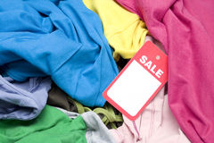 Clothing At A Flea Market Sale Stock Images