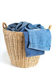 Clothing in basket Royalty Free Stock Images