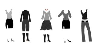 Clothing black Stock Images