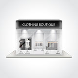 Clothing boutique building  vector illustration Royalty Free Stock Photography