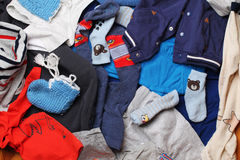 Clothing for boys background royalty free stock photography