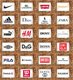 Clothing Brands And Logos Royalty Free Stock Images