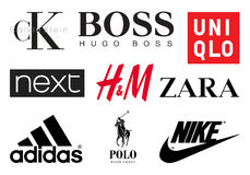 Clothing brands Stock Image
