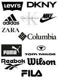 Clothing Brands Vector Royalty Free Stock Photography