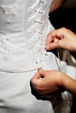 Clothing of the bride on wedding Stock Images
