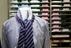 Clothing businessman (shirt and tie in store). Classic clothing businessman in store Stock Photography