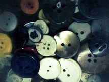 Clothing buttons Stock Photos