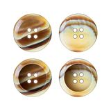 Clothing buttons isolated Royalty Free Stock Photos