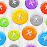 Clothing buttons pattern. Royalty Free Stock Photos