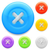 Clothing buttons. Stock Images