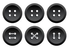 Clothing buttons with thread. Vector illustration vector illustration