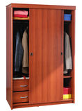 Clothing cabinet. Isolated Royalty Free Stock Photos